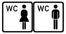 WC Tür Aufkleber- Wandtattoo versch. Farben - wetterfest