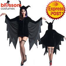 K438 Vampire Bat Maleficent Evil Queen Halloween Fancy Dress Up Costume Horn
