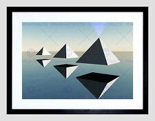 86868 TRIO FLOATING PYRAMID BLACK FRAME MOUNT Decor WALL PRINT POSTER CA