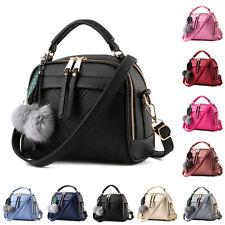 Schwarz Mode Mini Handtasche Damen  Kunstlede Messenger Taschen Schultertasche