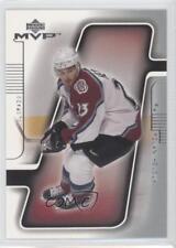 2001-02 Upper Deck MVP #45 Milan Hejduk Colorado Avalanche Hockey Card