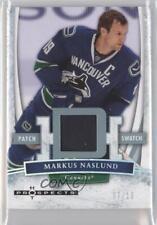 2007-08 Fleer Hot Prospects White 53 Patch Markus Naslund Vancouver Canucks Card