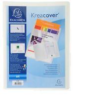 Exacompta Kreacover A4 Presentation Folder File Personalisable Cover White PP