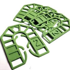 Verde De 2 Mm De Plástico Herradura embalaje Cuña - 55 Mm X 43mm X 2mm-Packer / Cuña