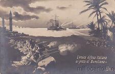 * GUERRA ITALO TURCA - L'Eroica difesa italiana ai pozzi di Bumiliana 1911