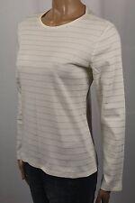 Ralph Lauren Petite Cream Silver Sparkle Knit Top Shirt NWT
