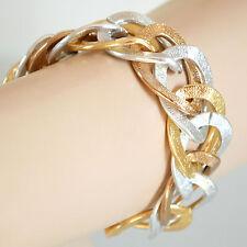 BRACCIALE donna oro argento anelli catena pulsera bracelet armband браслет B31