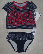 NWT Baby GAP Navy Red White Polka Dot Flower Tankini Swimsuit U Pick Size! NEW