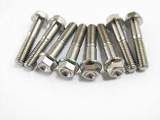 M6 x 30 Titanium Ti Bolts Hexagon 8mm Hex Head Flange Screw 2/5/8pcs