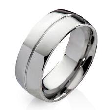 Verlobungsring Ehering Herrenring Damenring aus Edelstahl mit Ring Gravur E015