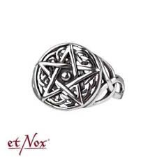 Gothic Pentagramm Drudenfuß Wicca Magie Ring Pentagram keltisch 925 Silber R698