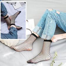 1pair Womens Sexy Look Through Wild Fishnet Hollow Mid Calf Fashion Short Socks