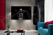 Metal Skull Head Red Heart Black Art Canvas Art Poster Print Home Wall Decor