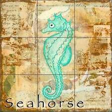 Ceramic Tile Mural Backsplash Shower McKenna Sea Life Seahorse Art CCI-BRI260