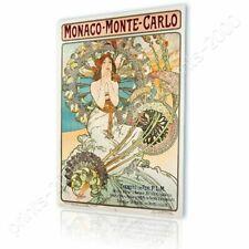 READY TO HANG CANVAS Monaco Monte Carlo Alphonse Mucha Framed Art Framed Paints