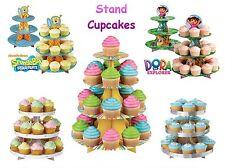 Stand Expositor Cupcakes Dora Exploradora Bob Esponja 3 y 4 pisos Disney Frozen