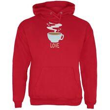 Love Coffee Red Adult Hoodie