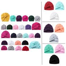 3Pcs Soft Baby Girls Boys Hat Newborn Infant Hospital Turban Beanie Cap Headwear
