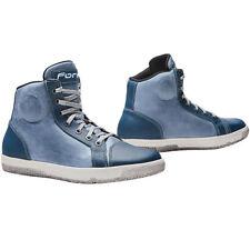 Forma Slam Dry Waterproof Motorcycle Motorbike Urban Boots - Denim Blue
