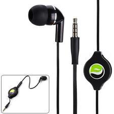 PREMIUM RETRACTABLE HEADSET MONO HANDS-FREE EARPHONE MIC for SMARTPHONES TABLETS