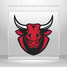 Stickers Sticker mad angry red bull head Helmet Motorbike Bike Garage st7 26569