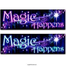 Magic Happens Bumper Sticker Sparkle. Wicca Pagan New Age Mystical Wiccan car