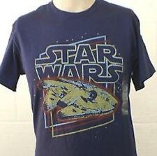 NEW! Star Wars Millennium Falcon Han Solo Chewy Movie Retro Look Shirt S, M, L
