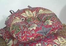 William Morris Crimson Strawberry Thief Piped Seat Pads