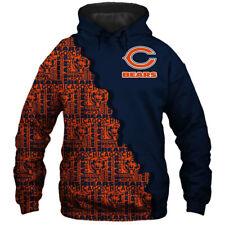 Chicago Bears Football Team Hoodie Hooded Sweatshirt Jacket gift for fan