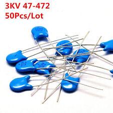 50Pcs 3KV 101 102 222 331 471 681 47 - 472 K High-voltage Ceramic Capacitor