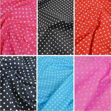 Polycotton Fabric 4mm Spots Polka Dots Spotty Craft Dress Material
