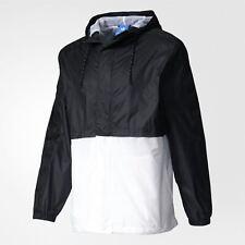 ADIDAS originaux Berlin coupe-vent noir blanc veste Pull-over rétro années 90