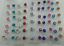 JOBLOT de Cristal Diamante Boda Accesorios Para El Cabello Pelo giros Remolinos Tornillo Pin