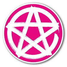 2 x 10cm Pentagram Symbol Vinyl Sticker Laptop Pagan Christian Sign Star #6282