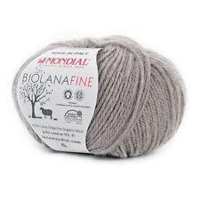 50g Mondial Bio Lana Fine 100% Ökologische Wolle Schurwolle chemiefrei ca. 175m
