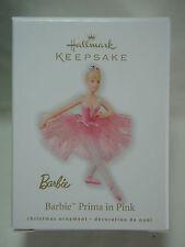2010 Hallmark Keepsake Ornament Barbie Prima in Pink