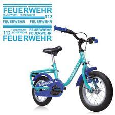 Feuerwehr Fahrradaufkleber Kinderrad Sticker Feuerwehrmann style4Bike