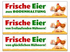 """Banner oder Aufkleber """"Frische Eier"""" Freiland, Bodenhaltung, glückliche Hühner"""