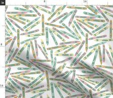 Crayon Children Art School Supplies Craft Fabric Printed by Spoonflower BTY