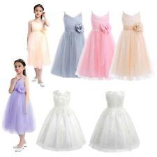 Flower Girl Bridesmaid Dress Wedding Birthday Gown Princess Pageant Kids Dress