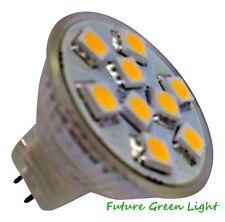 MR11 9 SMD LED 1.8W 12V (10-30V DC / 10-18V AC) WHITE / WARM WHITE BULB ~20W