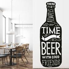 Bier en vrienden Alcohol citaat Muursticker WS-46164