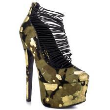 "NEW London Trash ""Ceres"" - WAS $170! - Camo Stiletto, 6.5"" heel, 2"" platform"