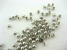 Calidad de níquel Metal Plateado espaciador granos Para Joyería Pulsera Cuentas Redondas