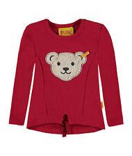 Steiff Mädchen Sweatshirt mit Quietschebär tango red NEU Sommer 2017