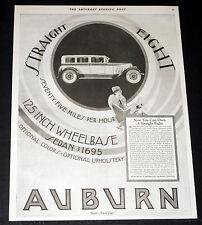1927 OLD MAGAZINE PRINT AD, AUBURN STRAIGHT EIGHT, SEVENTY-FIVE MILE PER HOUR!