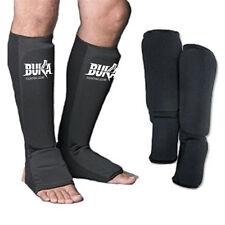 BUKA Shin Instep Protectors Foot legs Guards Pads kick Boxing MMA Muay Thai