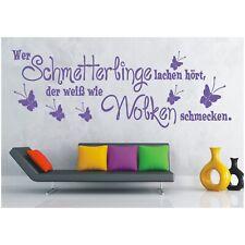 Wandtattoo Spruch  Schmetterlinge lachen Wandsticker Wandaufkleber Sticker 4