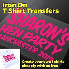 Hen Night Hen Do Iron On T Shirt Transfer - A1