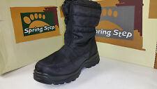 Spring Step Women's Lucerne Black Waterproof Snow Boots size US 5.5-11 EUR 36-42